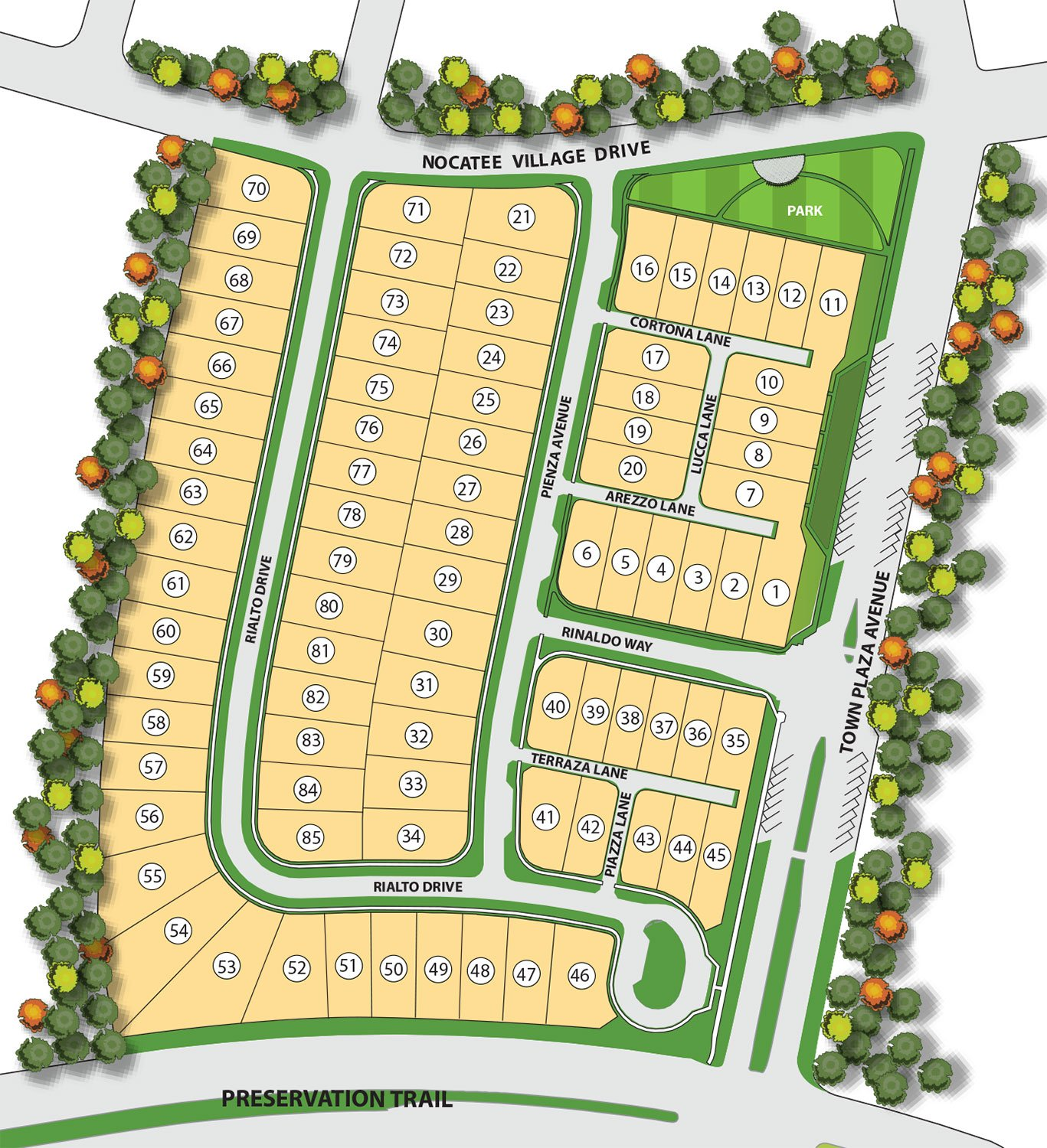 Siena at Town Center Sitemap at Nocatee in Ponte Vedra
