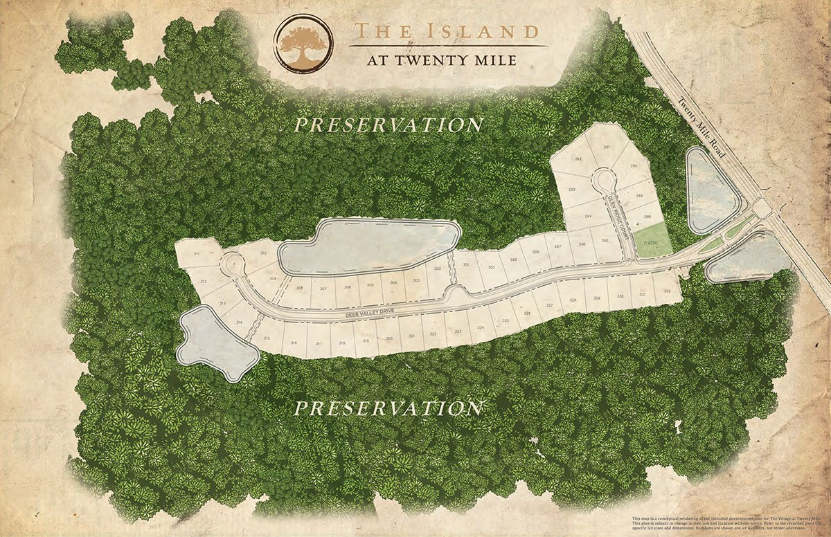 The Island Sitemap at Nocatee in Ponte Vedra