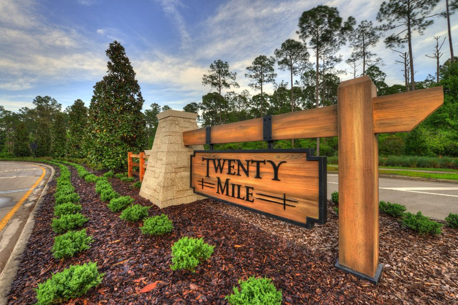 Twenty Mile Monument Sign at Nocatee in Ponte Vedra